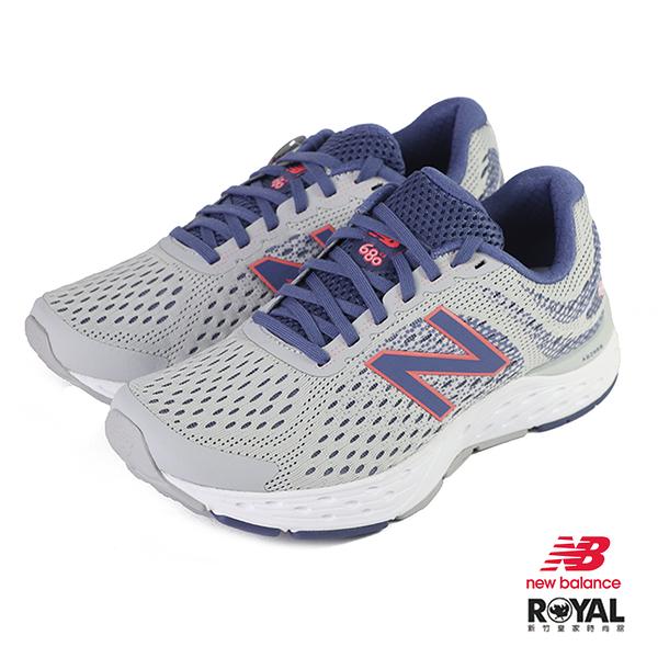 New balance 680 灰紫色 網布 休閒運動鞋 女款 NO.J0459【新竹皇家 W680AM6】
