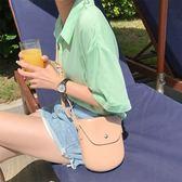 簡約風貝殼包翻蓋單肩包斜背包可愛休閒女包   蜜拉貝爾
