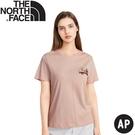 【The North Face 女 BUS短袖T恤AP《夜砂粉》】4UBM/休閒短袖/圓領T恤