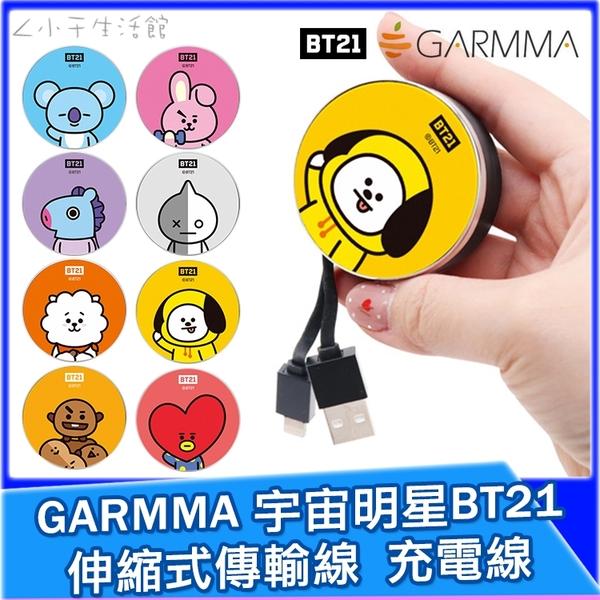 GARMMA 宇宙明星BT21 伸縮式傳輸線 TypeC Lightning 充電線 傳輸線 數據線 BTS 防彈少年團