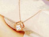 【櫻桃飾品】水晶立方體造型項鍊 短鏈   【20698】