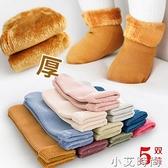 兒童雪地襪冬季加絨加厚保暖地板襪寶寶男女童中筒糖果色保暖襪子 小艾新品