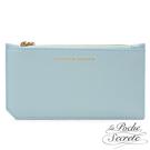La Poche Secrete 簡約真皮實用卡夾零錢手拿包-天空藍 ABD-LP031