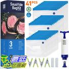 [9美國直購] OUII Sous Vide 食品真空密封袋組,30 個可重複使用的真空袋 不含 BPA ,附手動真空泵
