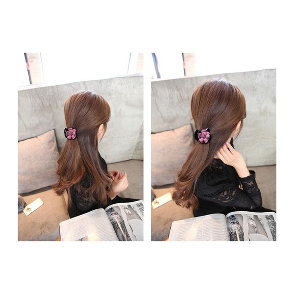 髮飾 立體 花朵 造型 馬尾夾 髮夾【DD1606021】 BOBI  04/20