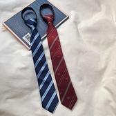 領帶JK日系感領帶免打結韓國復古學院條紋懶人格子領結【5月週年慶】