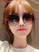 太陽眼鏡 2021年新款女士時尚墨鏡韓版潮防紫外線偏光太陽眼鏡2021網紅大臉 夢藝家