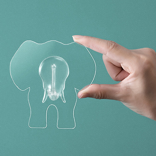 強力透明大象造型無痕掛鉤 創意廚房浴室強力無痕黏膠 免釘掛勾