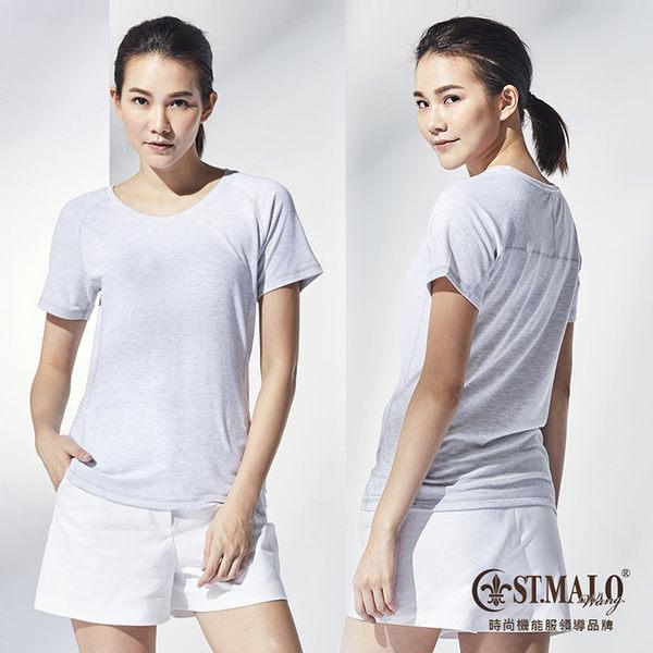ST.MALO 台灣製輕漾吸排爬線女上衣-1781WT