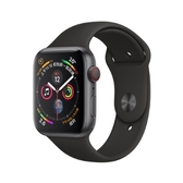 Apple Watch S4 GPS版44MM-灰鋁金屬錶殼搭配黑色運動型錶帶 MU6D2TA/A[24期0利率]