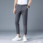 西褲-夏季小西褲男韓版潮流寬鬆九分小腳復古街頭嘻哈直筒百搭褲子