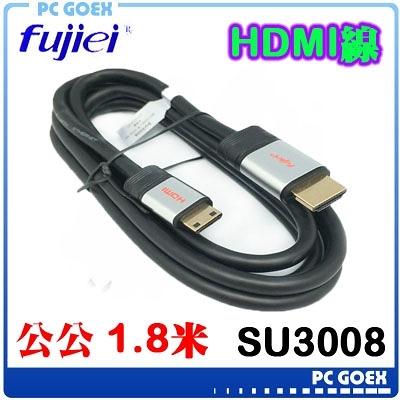 ☆pcgoex 軒揚☆ 力祥 Fujiei MINI HDMI to HDMI 傳輸線 1.8M SU3008
