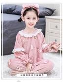 女童睡衣女寶寶秋冬季女孩兒童裝法蘭絨珊瑚家居服春秋季加厚套裝