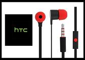 HTC 聆悅 MAX300 立體聲原廠扁線入耳式耳機 黑紅 (台灣原廠公司貨-密封袋包裝)