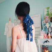髮箍 古風飄帶髪繩超長國風和風藍色髪帶軟雪紡髪飾頭飾 卡卡西