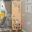 屏風 摺疊行動隔斷裝飾時尚客廳簡約現代小戶型臥室遮擋家用鏤空牆T