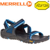 【MERRELL 美國 男款 ALL OUT BLAZE WEB〈藍/黑〉】ML 37645/休閒鞋/戶外拖鞋/海灘鞋/止滑★滿額送