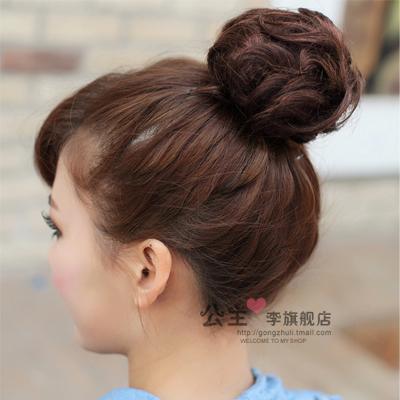 限定款假髮 韓系假髮 蓬鬆捲髮包花苞頭 真髮髮包/丸子頭真髮 真髮包 實拍