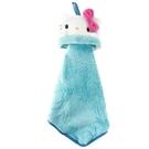 小禮堂 Hello Kitty 可掛式造型擦手巾 吸水毛巾 擦手毛巾 30x30cm (白 大臉) 4990270-12802