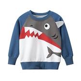 Baby童衣 寶寶長袖T 圓領長袖上衣 秋冬上衣 卡通衛衣 造型鯊魚 88562