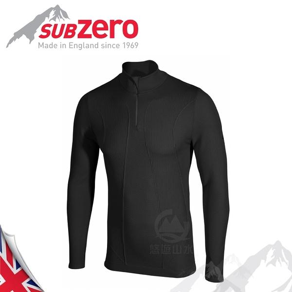 【Sub Zero 英國 Factor1+ 薄長袖無縫立領拉鍊排汗衣《黑》】Factor 1 PLUS/內衣/薄長袖/防曬