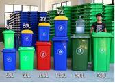 戶外垃圾桶大號100L小區120升環衛240L塑料帶蓋加厚腳踏垃圾筐igo  莉卡嚴選