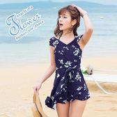 比基尼泳裝-日本品牌AngelLuna 現貨 交叉斜邊連身裙OnePiece一件式溫泉沙灘泳衣