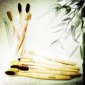 Lohogo 竹牙刷/天然可分解竹製牙刷/抗菌牙刷/環保牙刷/超軟毛牙刷/牙刷組_樂馨生活館