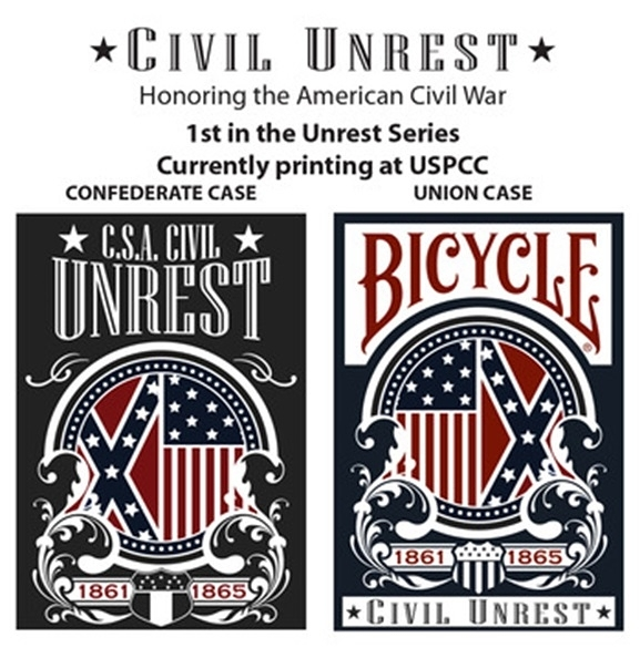 【USPCC 撲克】Bicycle Civil Unrest Playing Cards Union/Confederate Tuck