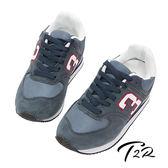 【韓國T2R】經典復刻 情侶款 8公分真皮氣墊增高鞋 ↑8cm 藍(5600-0027)