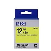 EPSON LK-4YBF 原廠標籤帶 (螢光12mm )黃黑 C53S654417
