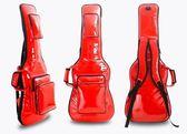 【非凡樂器】『超高品質 紅色皮面防水 電吉他厚琴袋』台灣製造