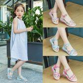 兒童女涼鞋新款兒童涼鞋女孩正韓公主鞋【快速出貨八折搶購】