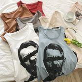 2018夏季新款男士無袖背心運動韓版短袖T恤打底衫坎袖寬鬆【情人節禮物限時八五折】