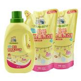 【愛的世界】嬰兒雙酵素洗衣精組合包(共3200ML)*4組/箱-台灣製- ★箱購用品