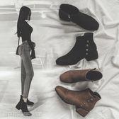 馬丁靴 短靴女秋冬新款小跟粗跟網紅英倫韓版百搭矮靴子女踝鞋馬丁靴 維科特3c