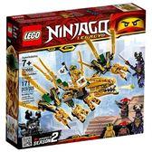 【LEGO 樂高積木】Ninjigo忍者系列-黃金龍 LT-70666