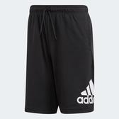 Adidas MH BOS SHORT [DT9949] 男 運動 休閒 慢跑 五分 短褲 舒適 棉質 愛迪達 黑
