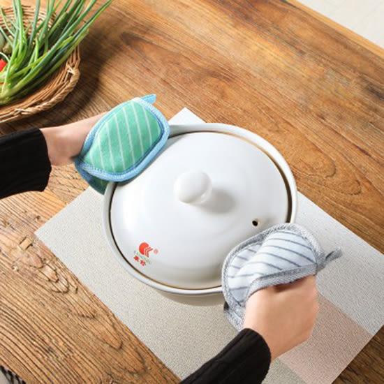 ✭慢思行✭【N425】橫條加厚橢圓隔熱手套 廚房 拉毛邊 微波爐 防燙 烘焙 防滑 耐高溫 烤箱