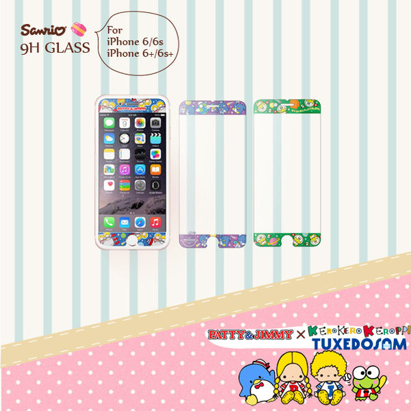 iPhone 6 / 6s / iPhone 6 Plus 9H 正版 三麗鷗 山姆企鵝 大眼蛙 9H浮雕彩繪 鋼化玻璃螢幕貼 手機保護膜