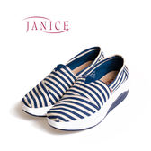 JANICE-厚底增高舒適懶人鞋352002-07(藍)