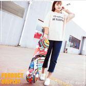 四輪滑板青少年成人兒童初學者公路滑板車   YTL  俏girl