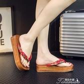 木屐鞋-夏季木拖鞋女木屐高跟日式木屐人字木鞋 木屐提拉米蘇