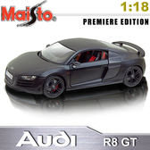 Audi R8 GT 《1/18 》合金模型車 _銷光黑