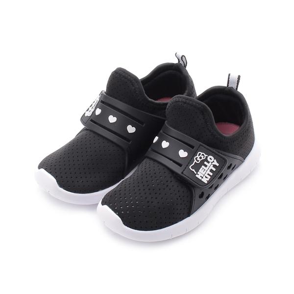 Hello Kitty 套式魔鬼氈休閒運動鞋 黑 718772 中童鞋 鞋全家福