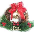 聖誕-摩達客-樹藤鈴鐺復古對鳥聖誕花圈