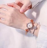 手表女 chic簡約韓版複古文藝 氣質小表盤防水皮帶女表 極簡雜貨