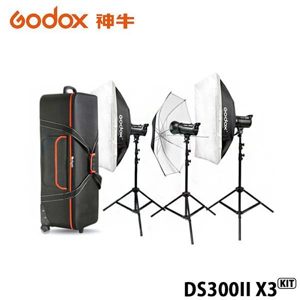 黑熊館 GODOX 神牛 DS300II X3 KIT 三燈套組 玩家棚燈2代 300瓦/110V 2.4G無線