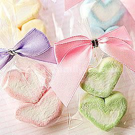 婚禮小物 心連心.棉花糖喜糖包- 手工喜糖/園遊會/生日派對/活動 幸福朵朵