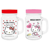 Hello Kitty 罐型手拿杯/梅森杯(1入) 兩款可選【小三美日】